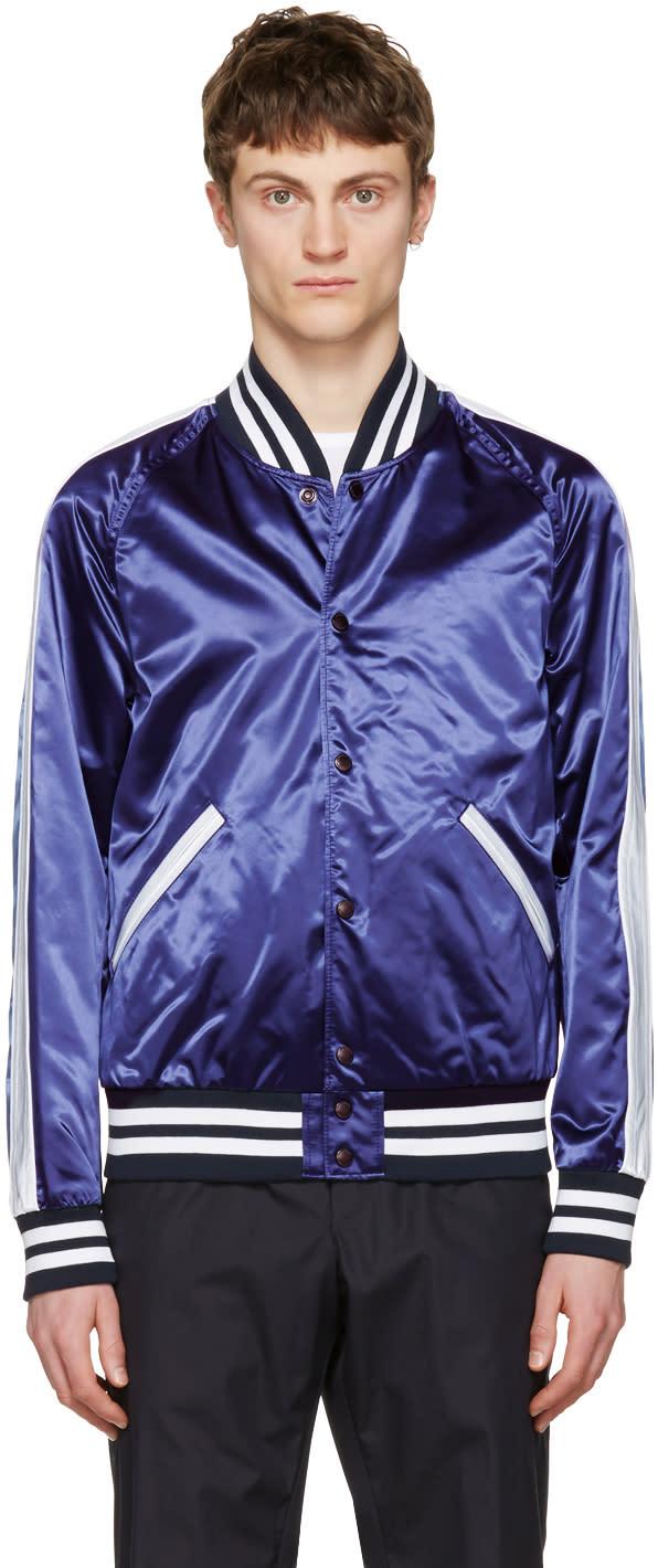 Burberry Navy Lidington Bomber Jacket