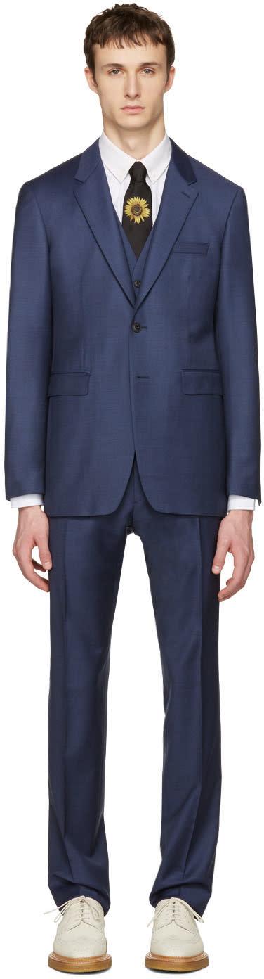 Burberry Blue Millbank Travel Three-piece Suit