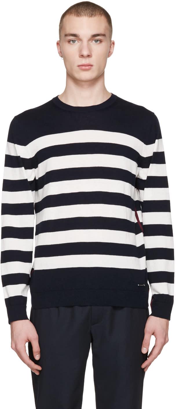 Burberry ネイビー ストライプ シーボーン セーター