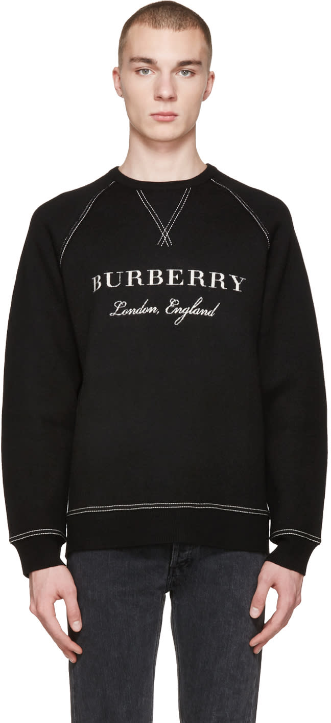 Image of Burberry Black Belsford Pullover