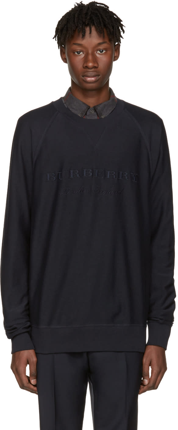 Burberry Navy Coleford Pullover