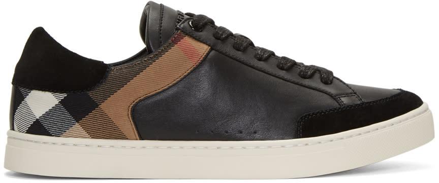 Burberry Black Rettford Check Sneakers