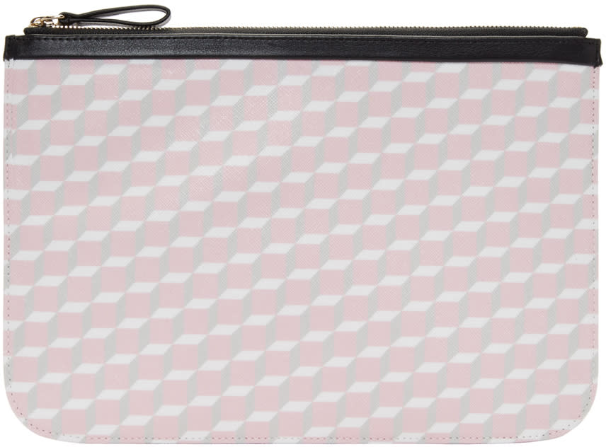 Pierre Hardy Ssense Exclusive Pink Large Cube Pouch