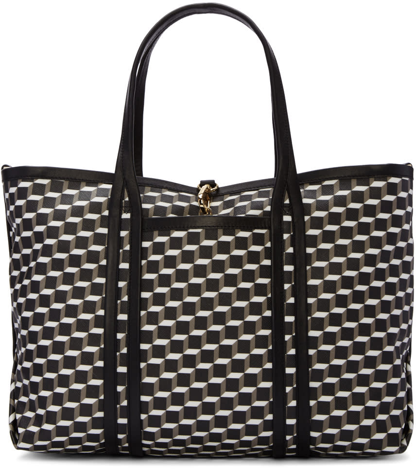 Pierre Hardy Tricolor Canvas Perspective Cube Tote