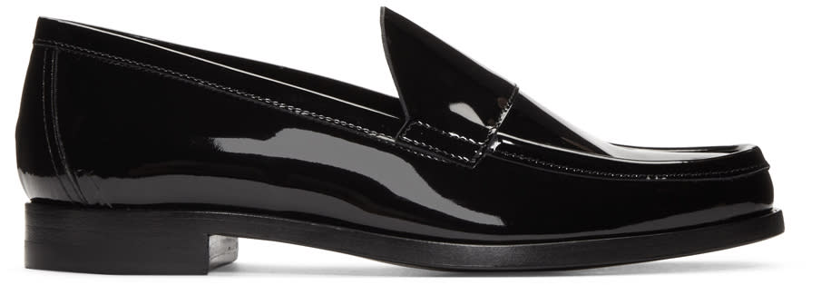 Pierre Hardy Black Patent Leather Loafers