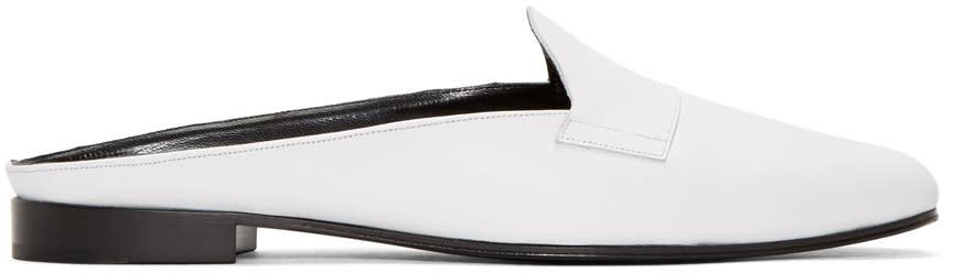 Pierre Hardy White Jacno Mule Loafers