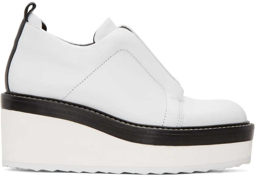 Pierre Hardy White Mega Slider Sneakers