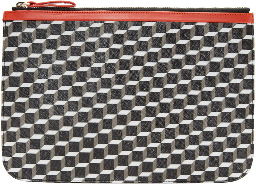 Pierre Hardy Tricolor Large Cube Pouch