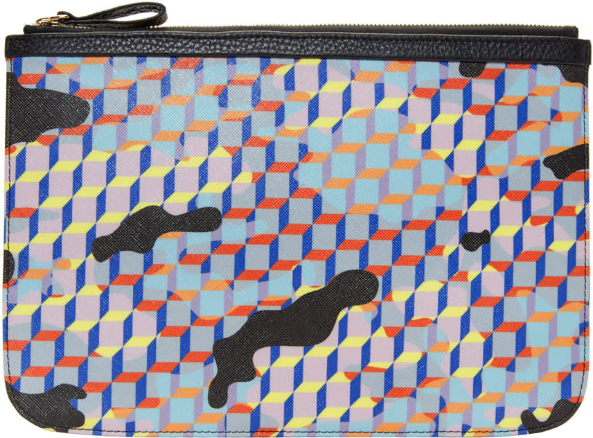 Pierre Hardy Multicolor Large Camocube Pouch