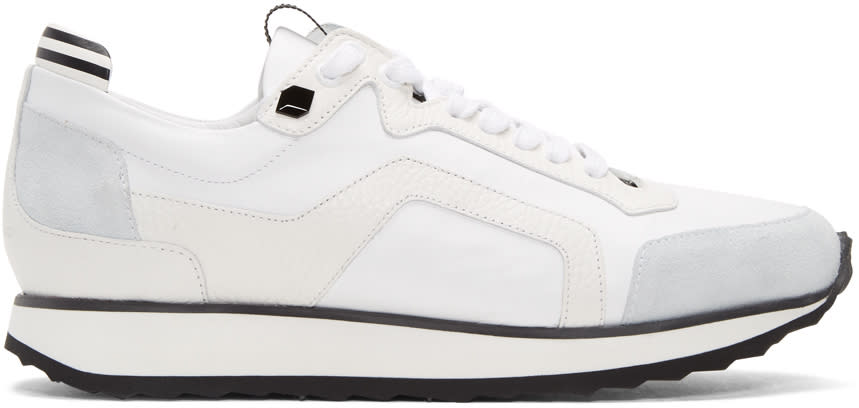 Pierre Hardy White Track Sneakers
