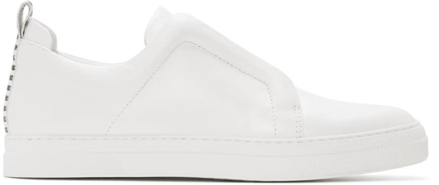 Pierre Hardy White Slider Sneakers