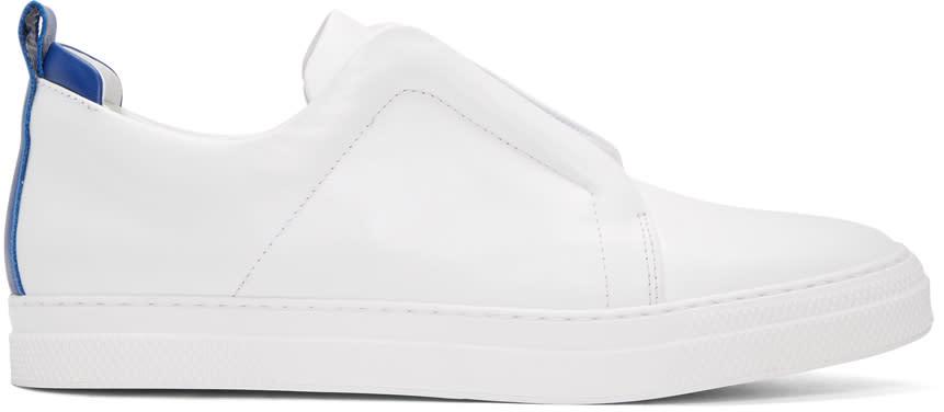 Pierre Hardy White Slider Slip-on Sneakers