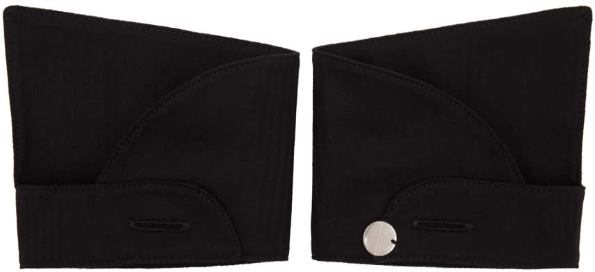Ann Demeulemeester Black Button Cuffs