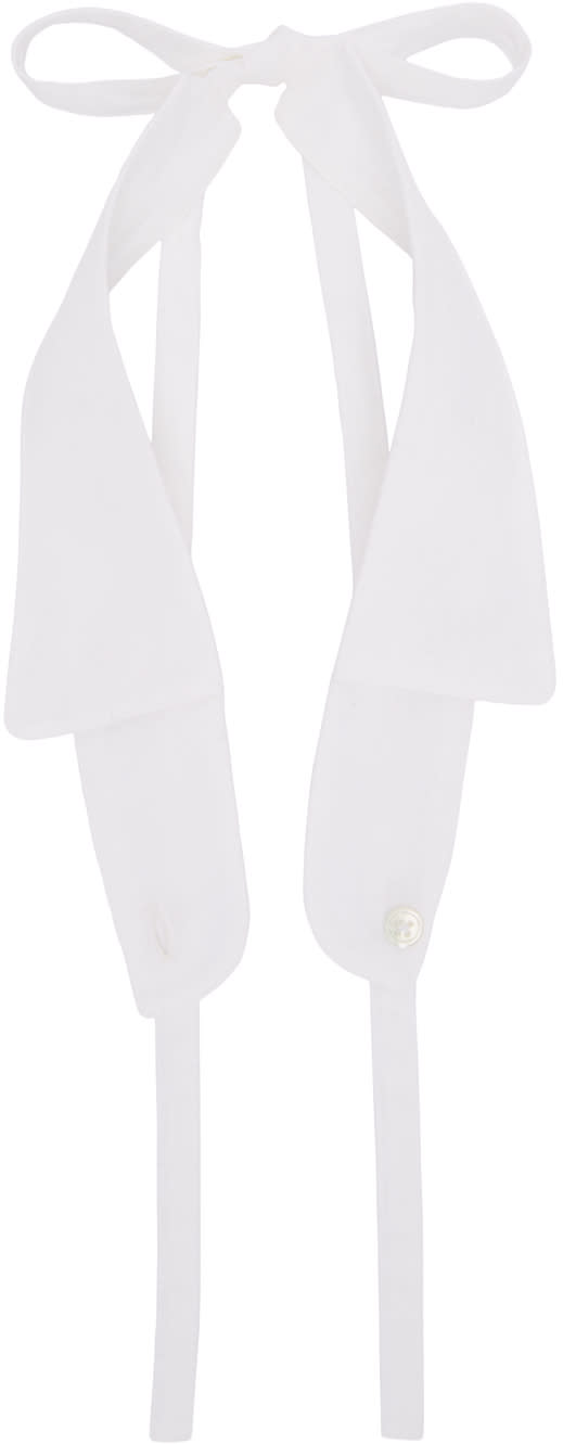 Ann Demeulemeester White Spread Collar