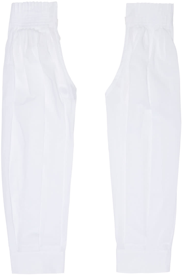 Ann Demeulemeester White Pleated Sleeves