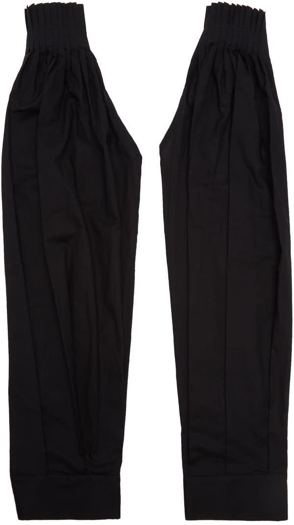 Ann Demeulemeester Black Pleated Sleeves
