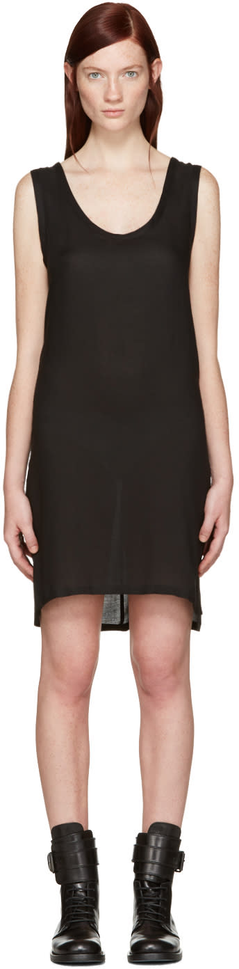 Ann Demeulemeester Black Short Thelma Tank Dress