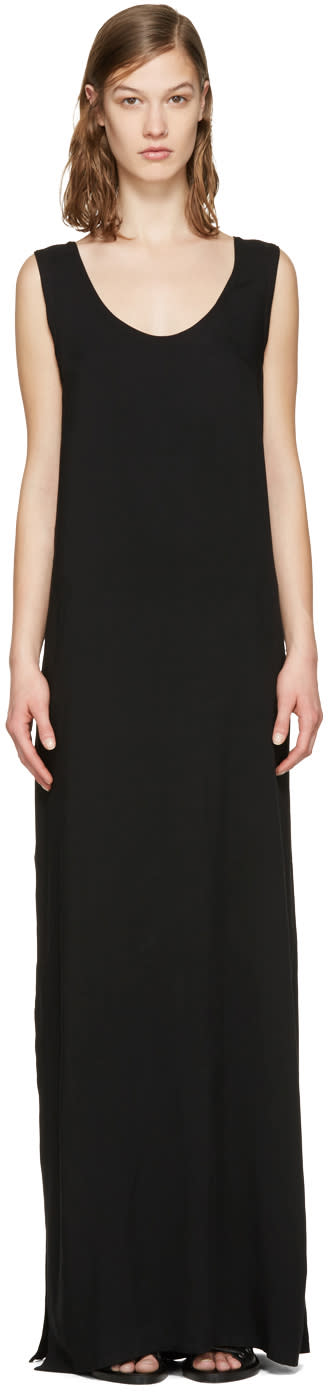 Ann Demeulemeester Black Long Chastain Dress