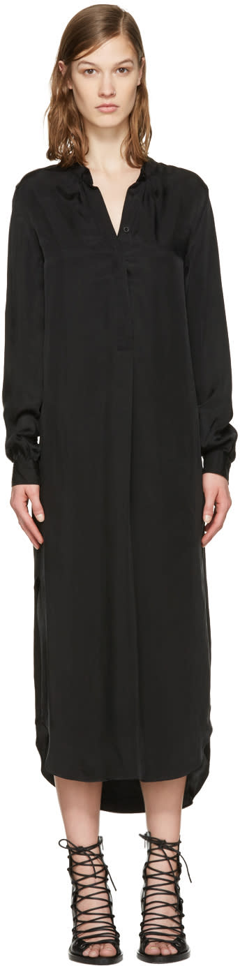 Ann Demeulemeester Black Long Shirt Dress