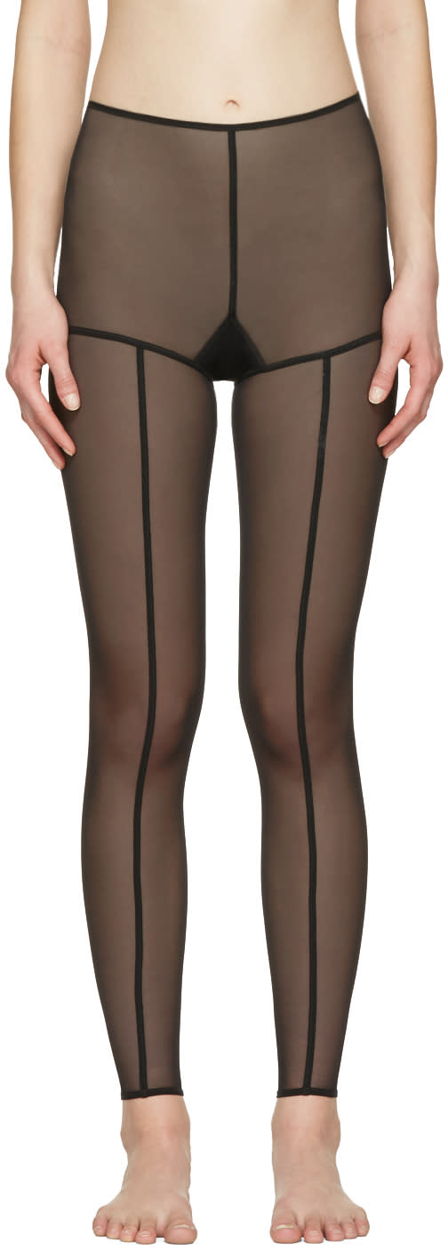 Ann Demeulemeester Black La Fille Do Edition Tulle Leggings