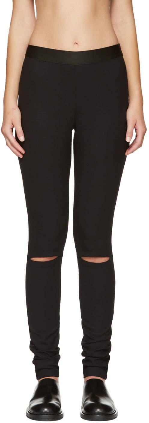 Ann Demeulemeester Black Knee Slit Trousers