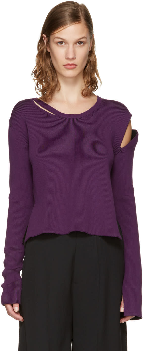 Ann Demeulemeester Purple Median Pullover