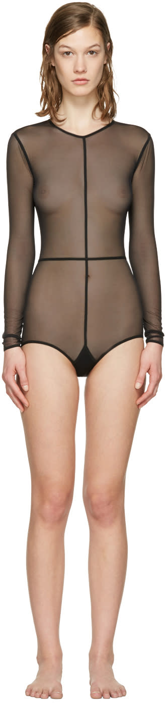 Ann Demeulemeester Black La Fille Do Tulle Bodysuit