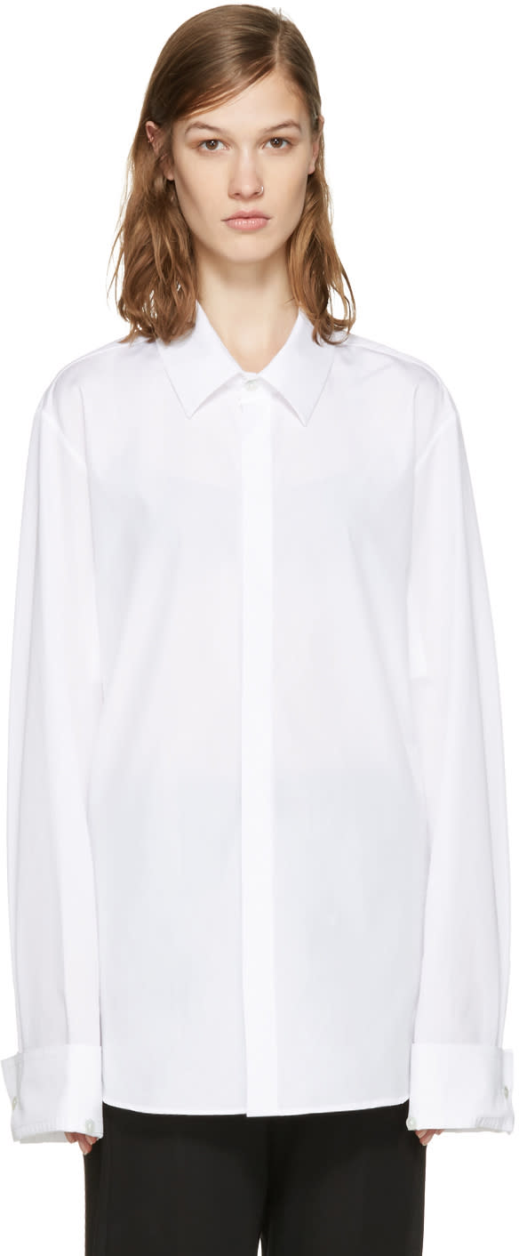 Ann Demeulemeester White Back Ties Shirt