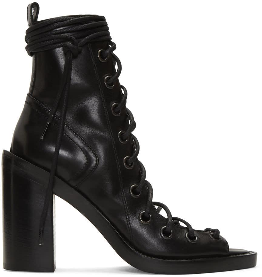 Ann Demeulemeester Black Lace-up Sandals