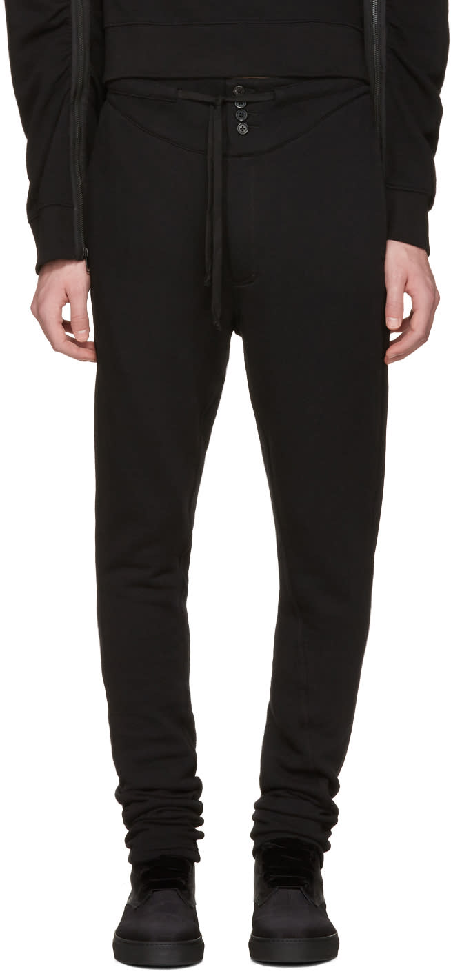 Ann Demeulemeester Black Buttoned Lounge Pants