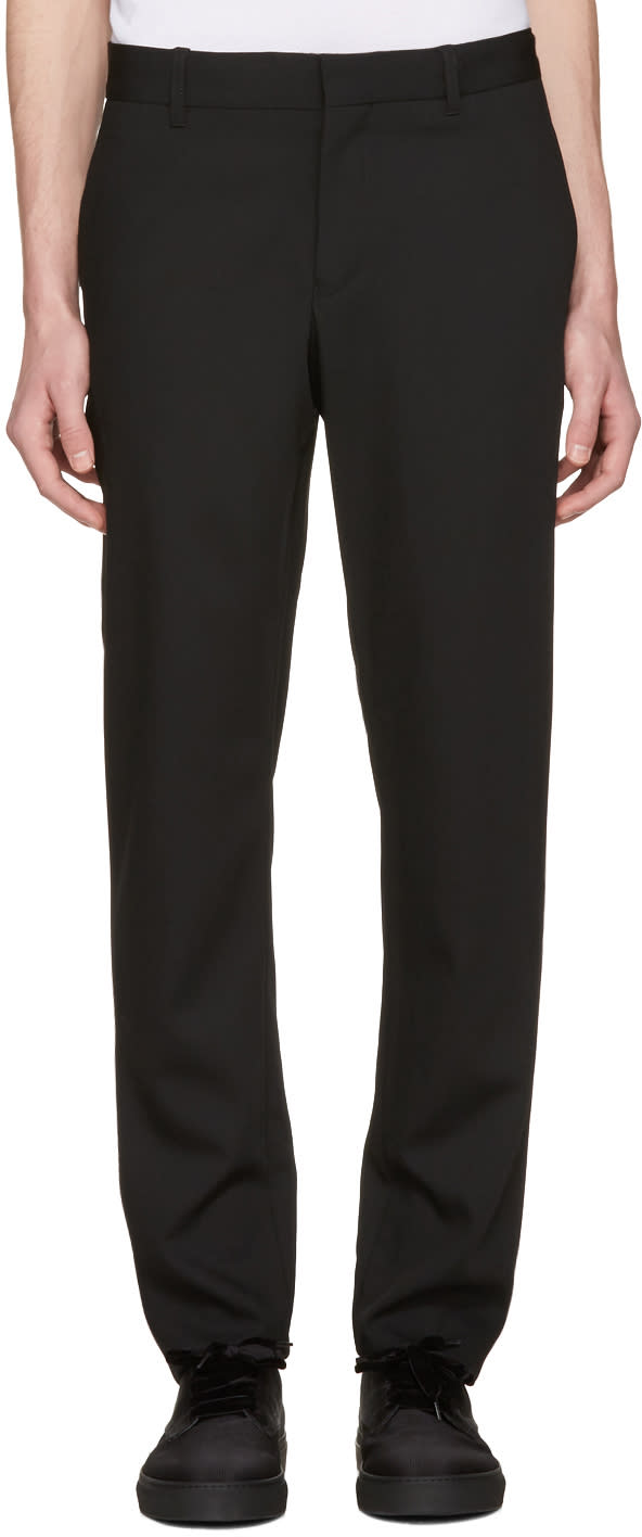 Ann Demeulemeester Black Slim Trousers