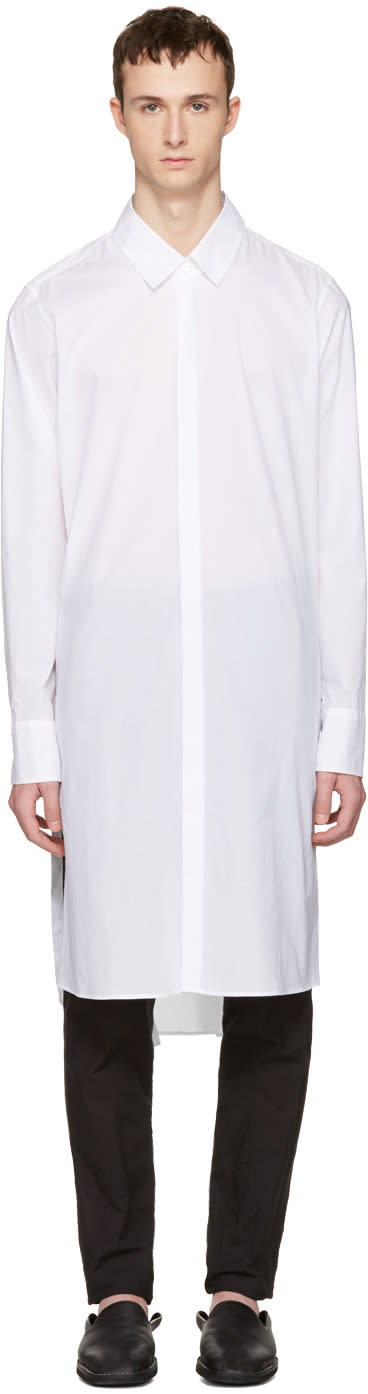 Ann Demeulemeester White Long Shirt