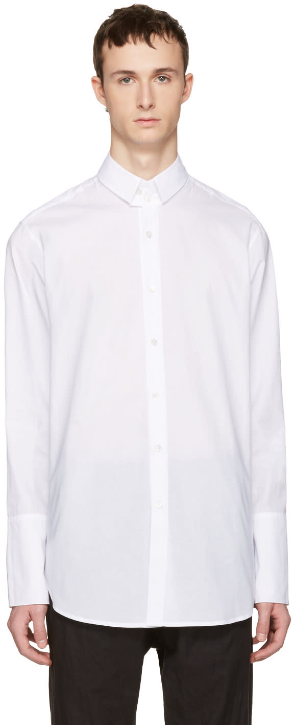 Ann Demeulemeester White Two Button Shirt