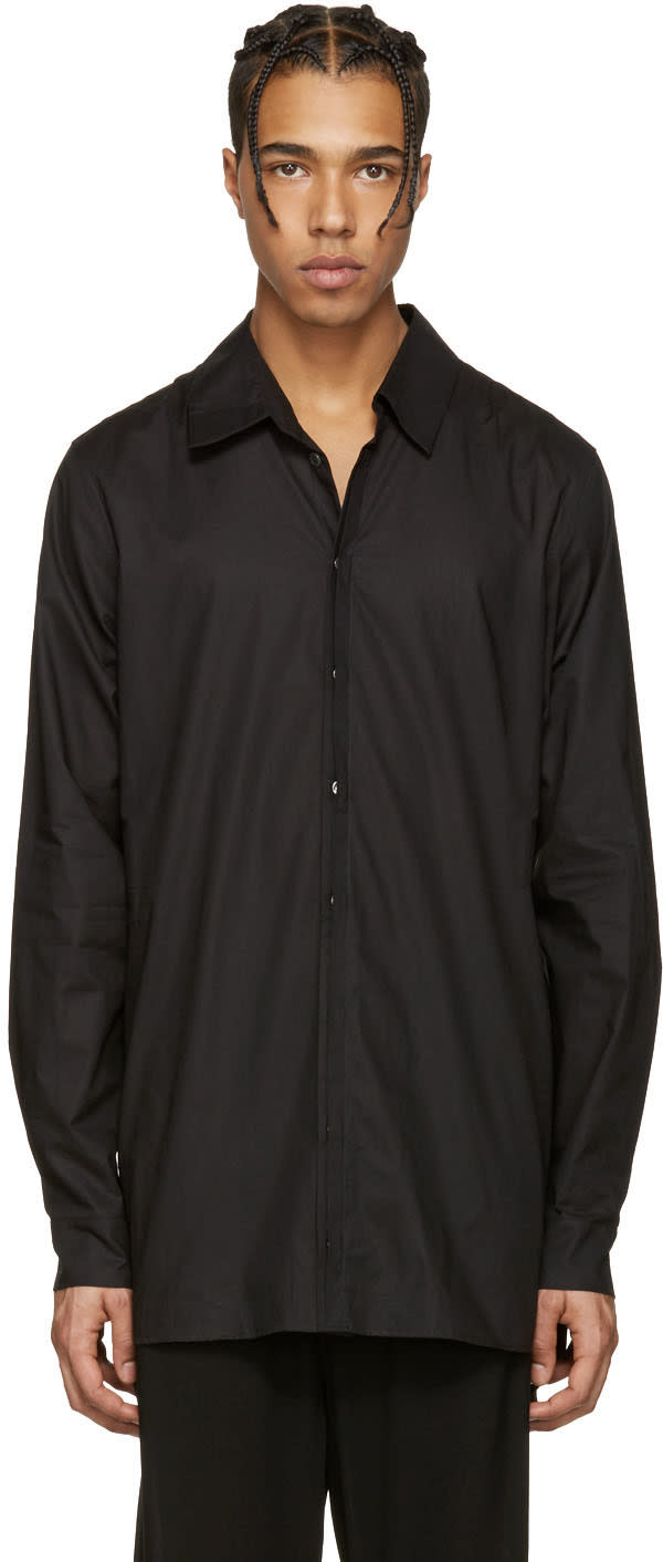 Ann Demeulemeester Black Back Belt Shirt