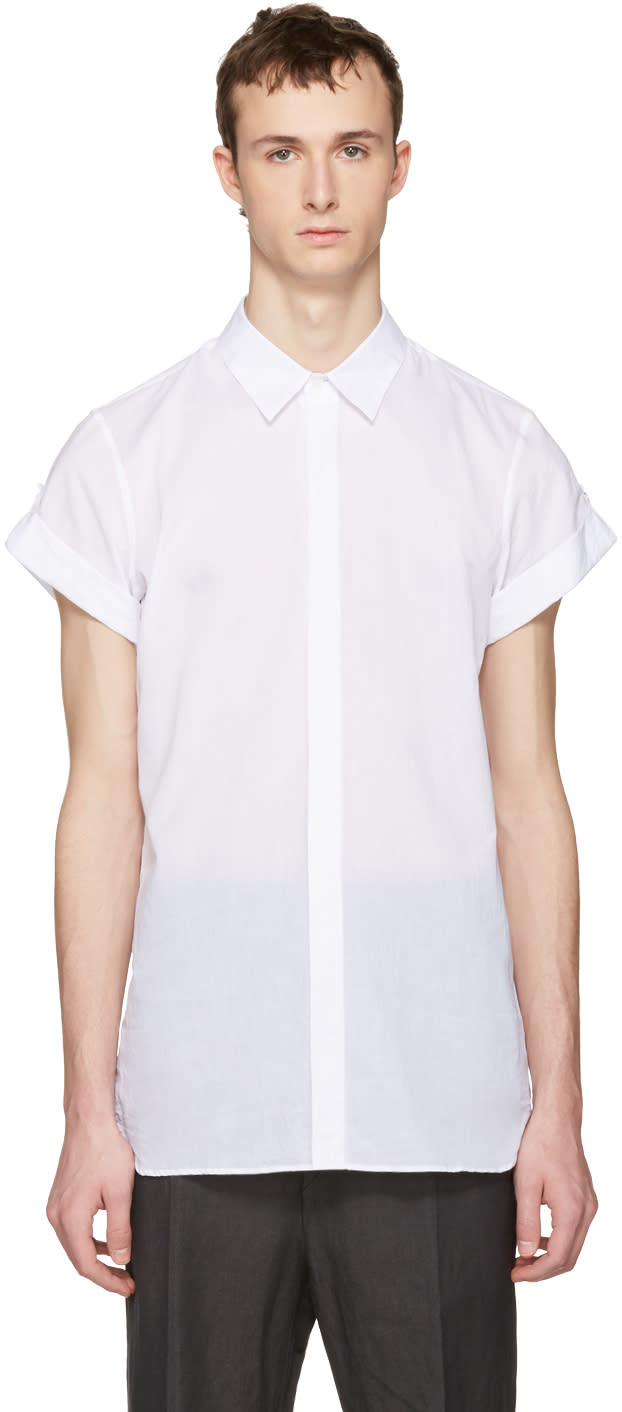 Ann Demeulemeester White Button Shirt