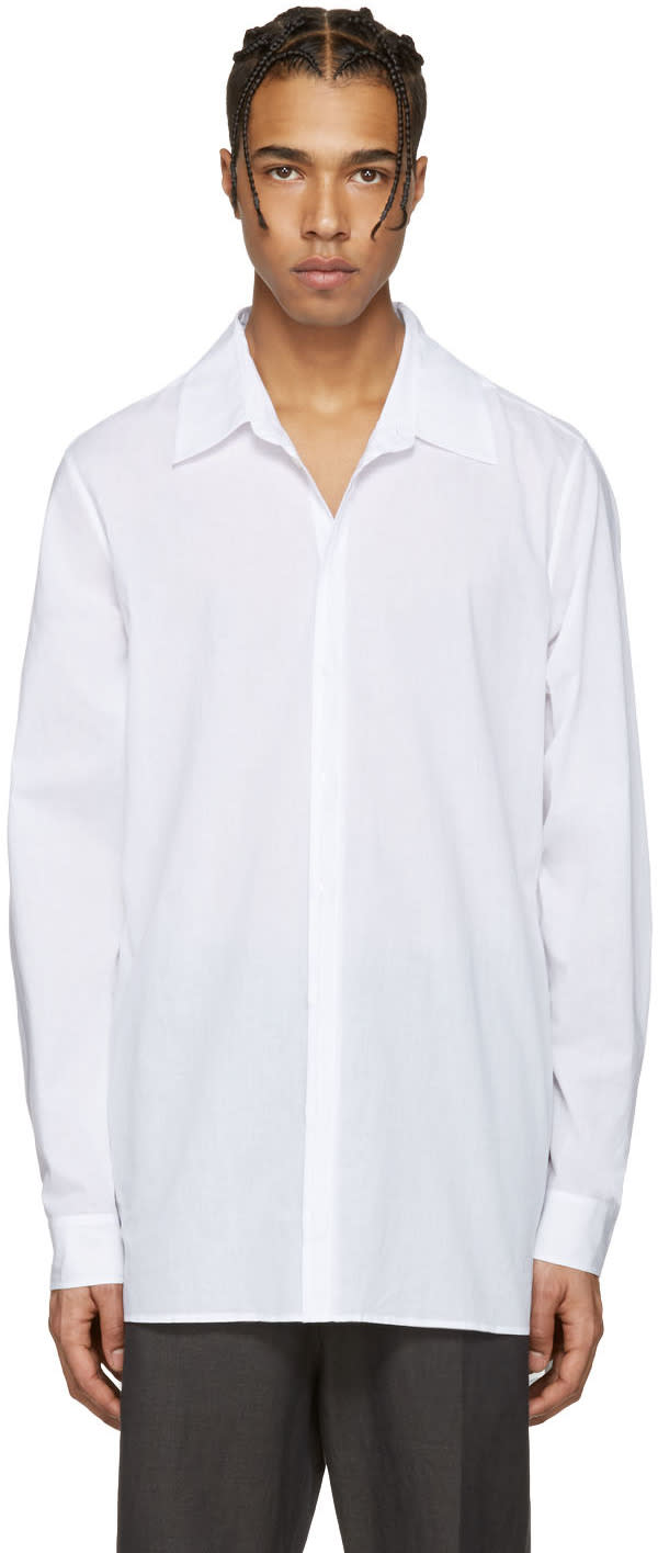 Ann Demeulemeester White Back Belt Shirt