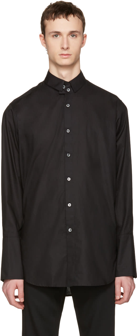 Ann Demeulemeester Black Two Button Shirt