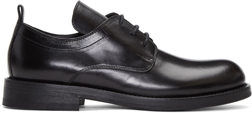 Ann Demeulemeester Black Long Tongue Derbys