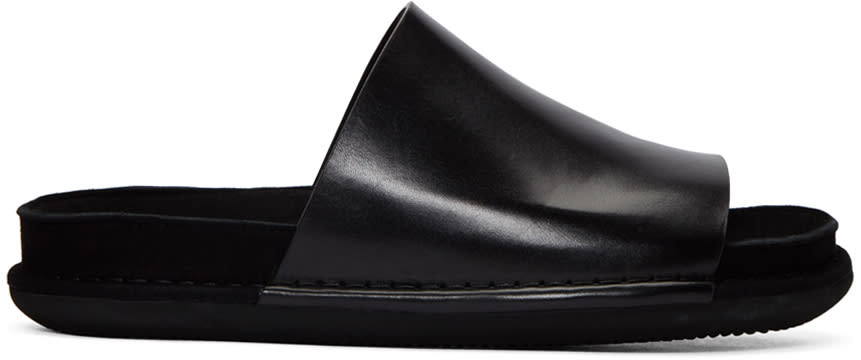 Ann Demeulemeester Black Slide Sandals