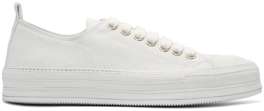 Ann Demeulemeester White Suede Sneakers