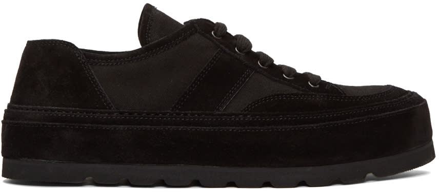Ann Demeulemeester Black Thick Sole Sneakers