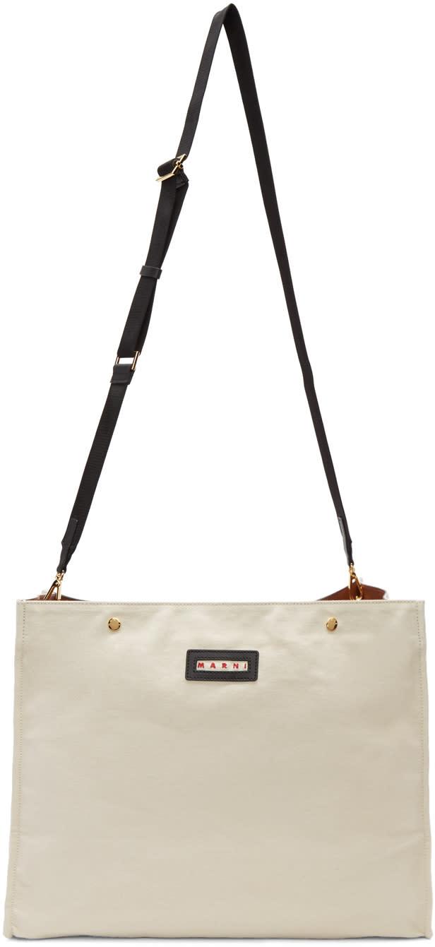 Marni Ecru Voile Shoulder Bag