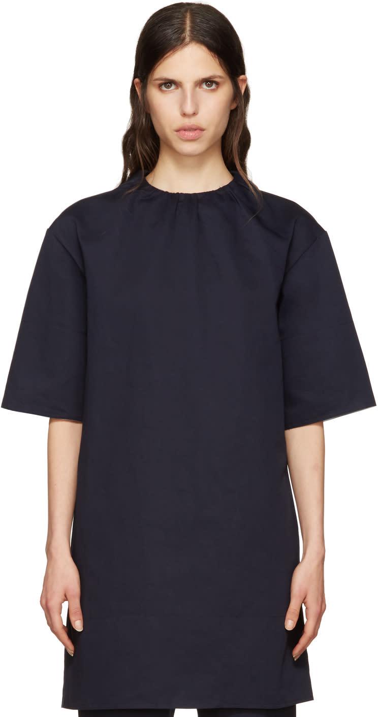 Marni Navy Twill Dress