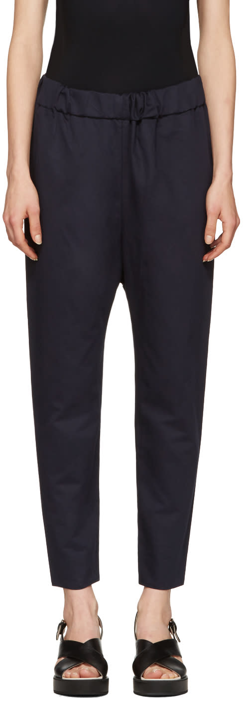 Marni Navy Twill Trousers
