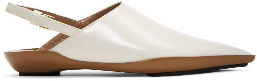 Marni Off-white Sabot Loafers