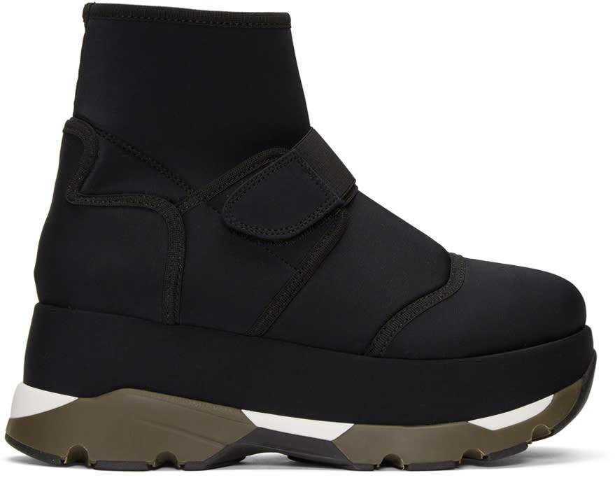 Marni Black Velcro Platform High-top Sneakers