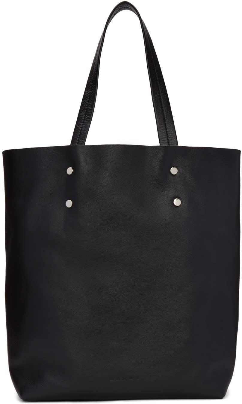 Marni Black Leather Tote Bag