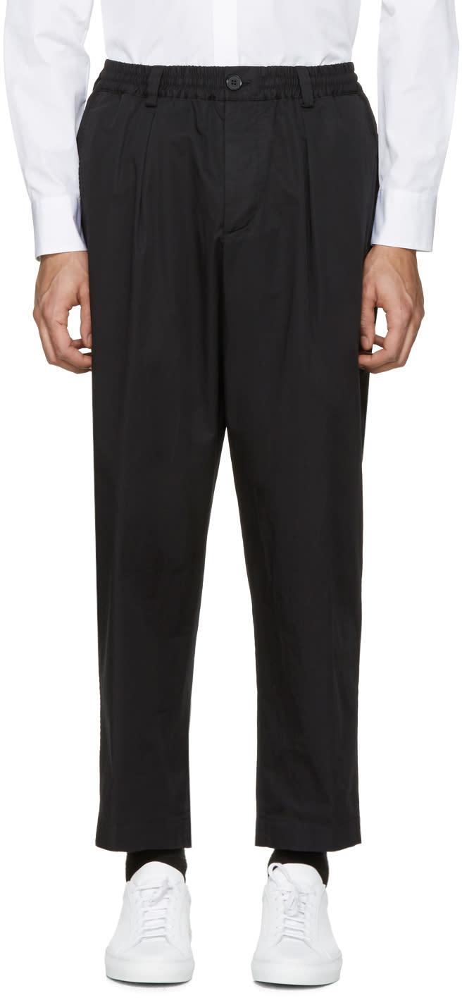Marni Black Cotton Wide Trousers