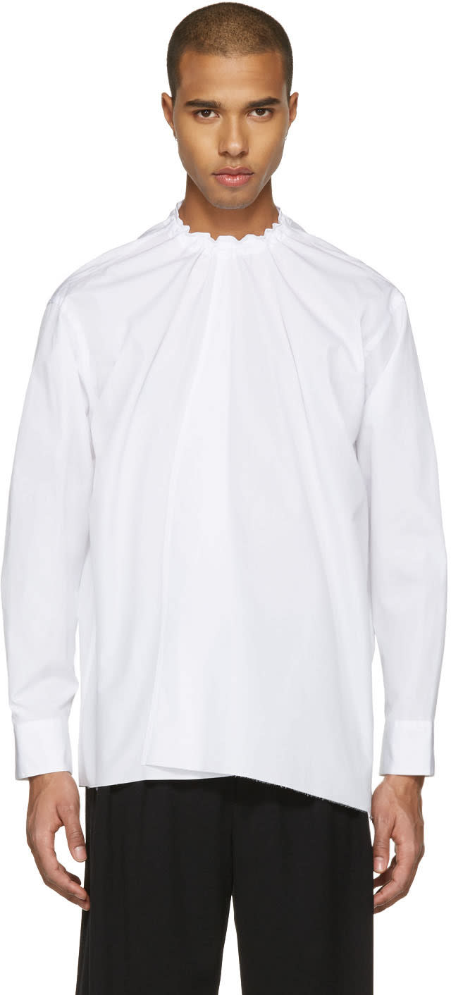 Marni White Back Button Shirt