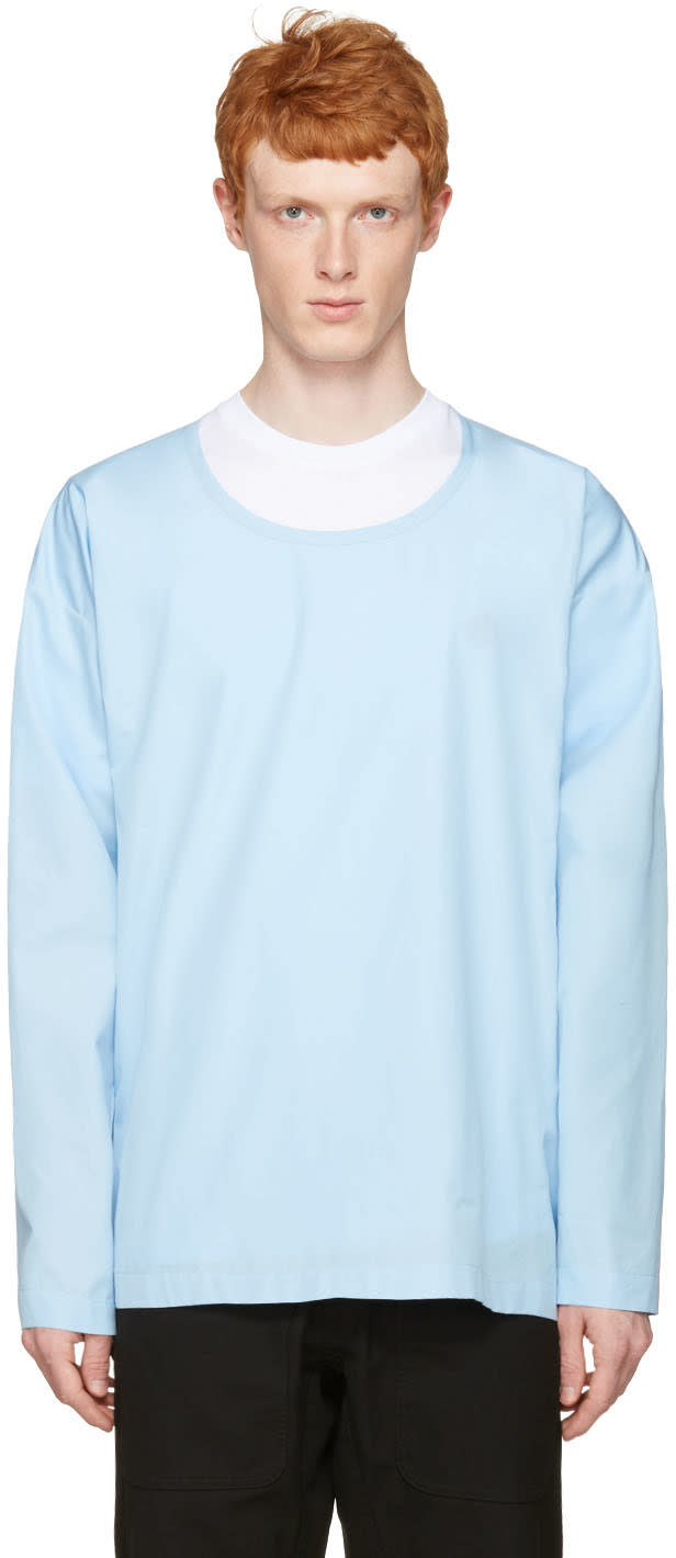 Marni Blue Cotton Velcro Shirt